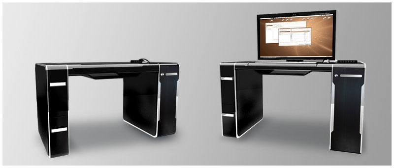 TuxPerle: Un computer che si trasforma in scrivania