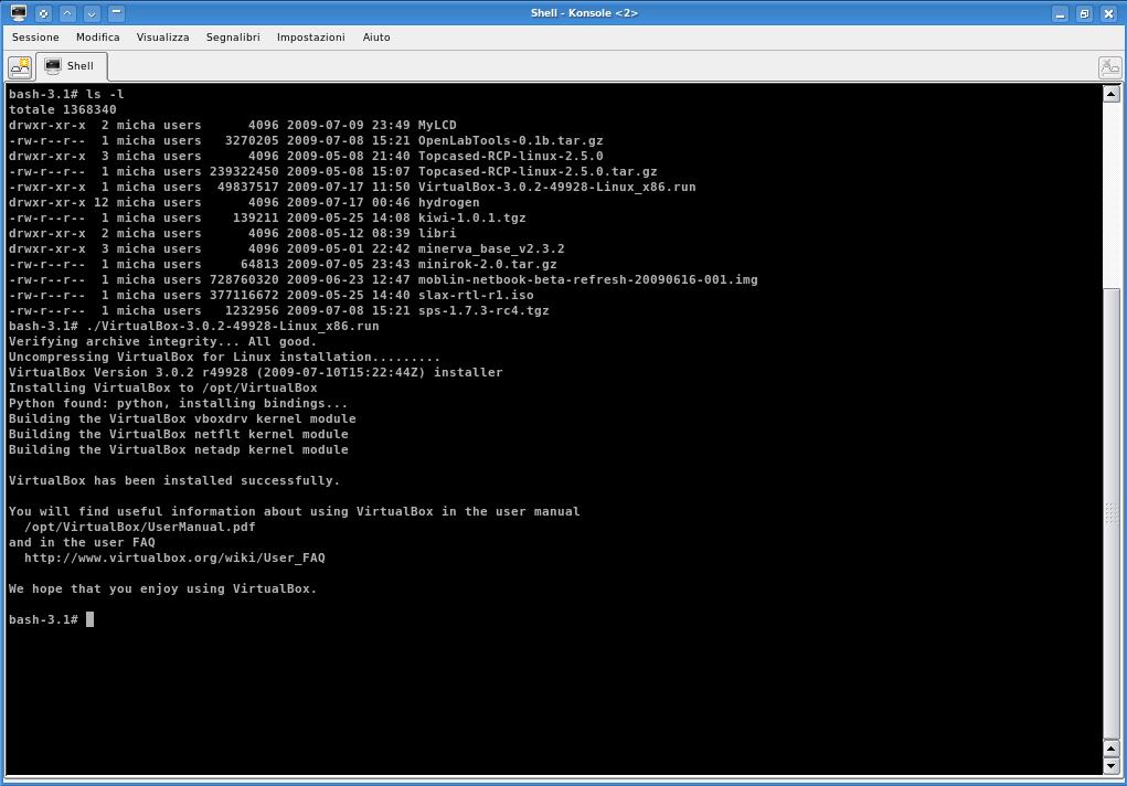 VirtualBox 3.0.2 sul nostro banco di prova