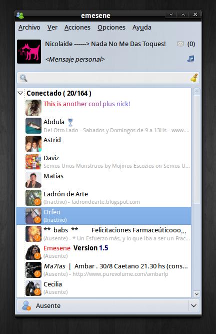 Guida all'installazione di Emesene 1.5, appena rilasciato