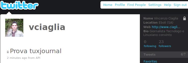 HowTo: aggiornare Twitter da riga di comando