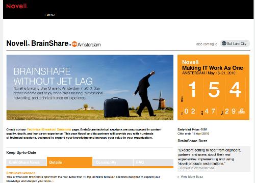 Novell Brainshare, l'azienda ci riprova ad Amsterdam