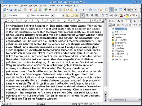 OpenOffice.org-2.0-Writer-KDE-German