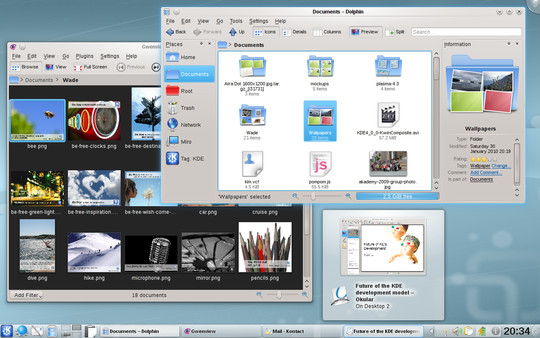 KDE SC 4.4, Caikaku sorprende tutti