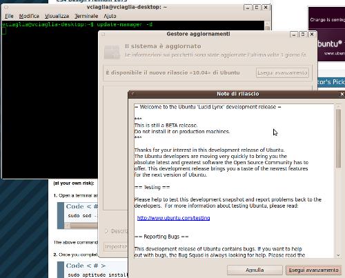 Ubuntu 10.04: upgrade con un click!