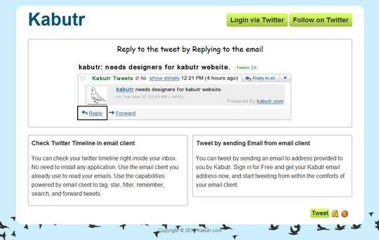 Leggere e rispondere ai tweet dalla posta elettronica