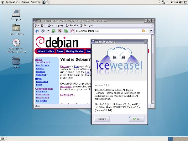 Debian-iceweasel