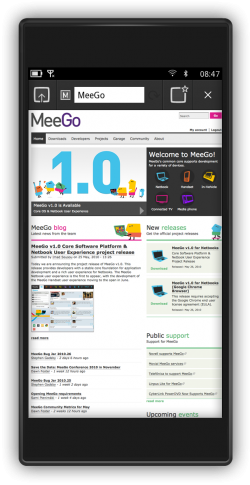 MeeGo per smartphone: ecco screenshot e video