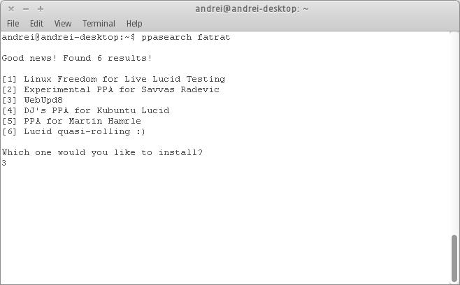 PPASearch: per aggiungere velocemente PPA ai repository