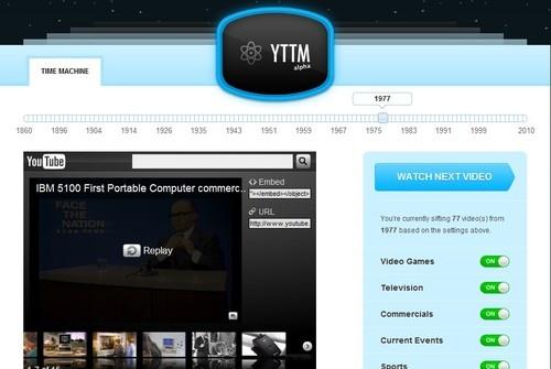 Viaggiare nel tempo con YouTube Time Machine