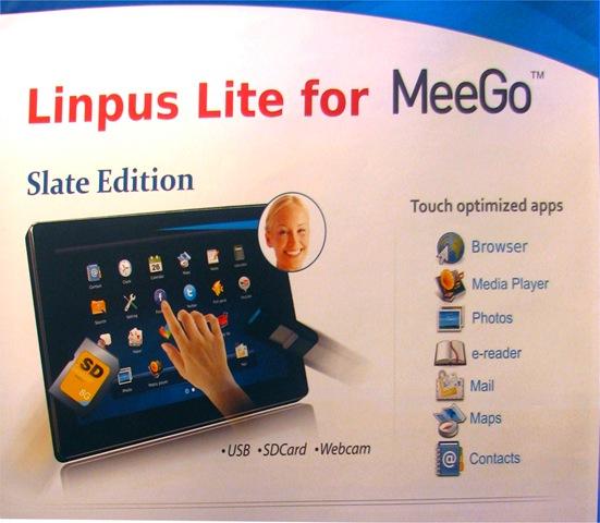 Linpus: un tablet con MeeGo entro la fine dell'anno
