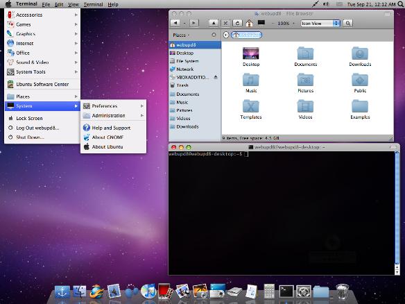 Trasformare Ubuntu in Mac OS X con Macbuntu