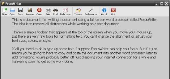 FocusWriter: un ottimo word processor opensource