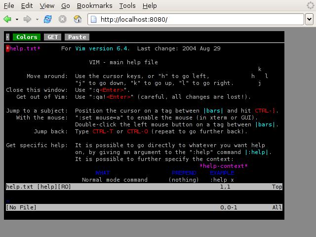 Ajaxterm, per accedere al Terminale dal browser