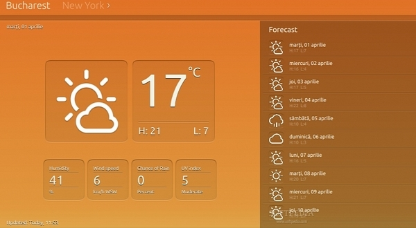 Ubuntu-Weather-App