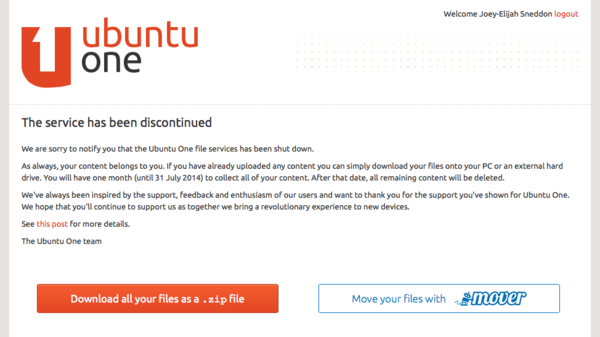 ubuntu-one-not