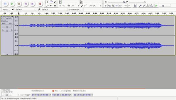 Ritagliare MP3 con Audacity