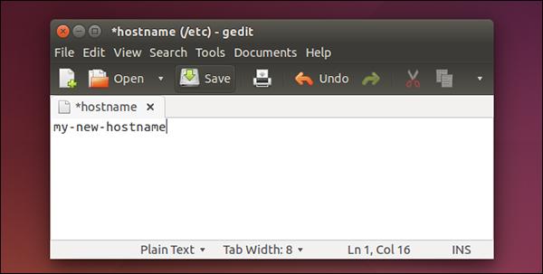 hostname-ubuntu